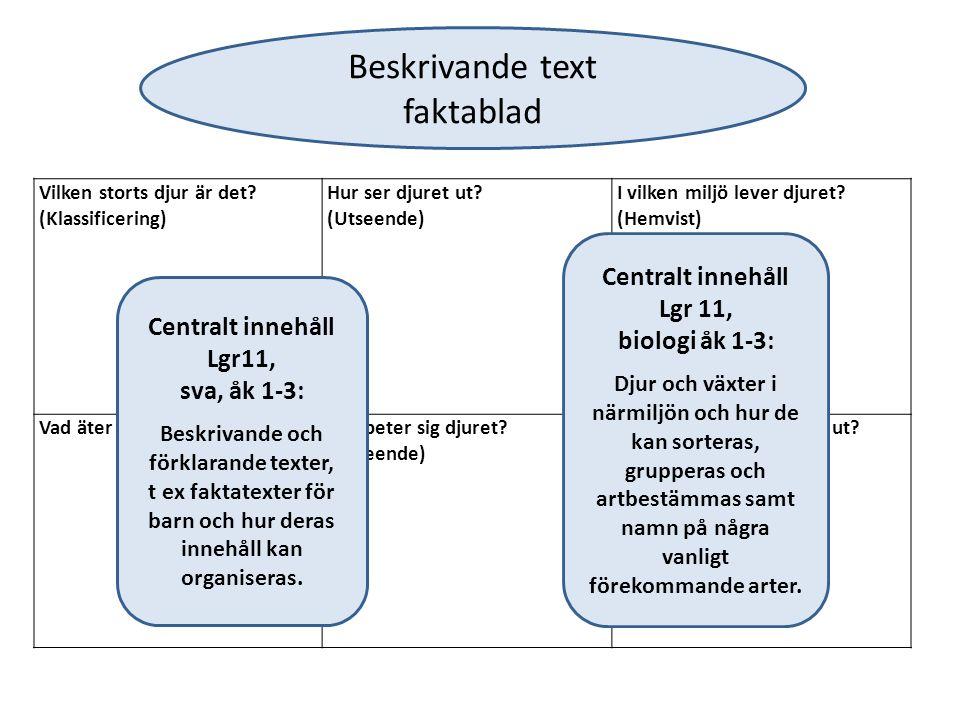 Fas 3: Skriva en gemensam text Eleverna står för innehållet Läraren står för formen Är det något vi behöver ändra på.