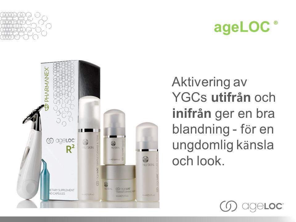 ageLOC ® Aktivering av YGCs utifr å n och inifr å n ger en bra blandning - f ö r en ungdomlig k ä nsla och look.