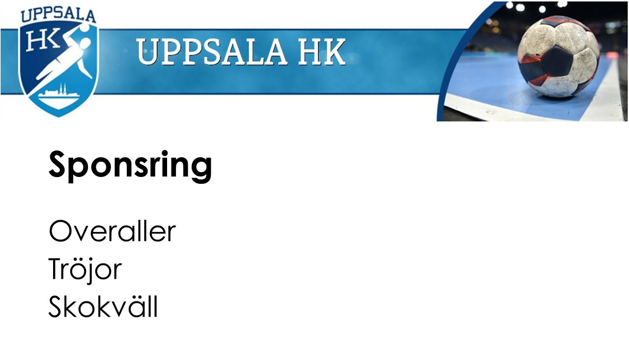 Sponsring Overaller Tröjor Skokväll