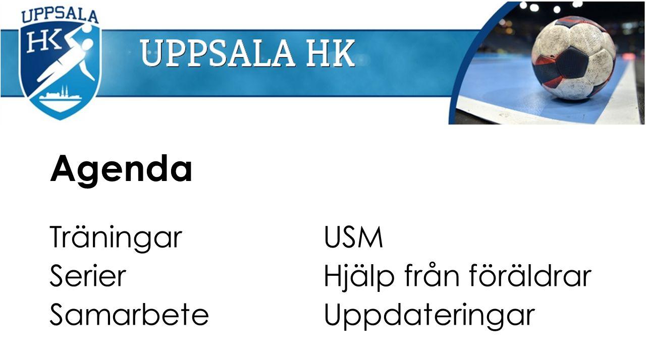 Agenda Träningar Serier Samarbete USM Hjälp från föräldrar Uppdateringar