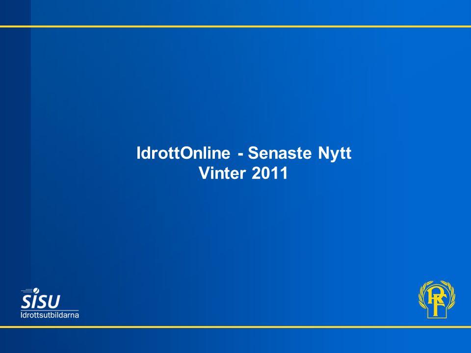IdrottOnline - Senaste Nytt Vinter 2011