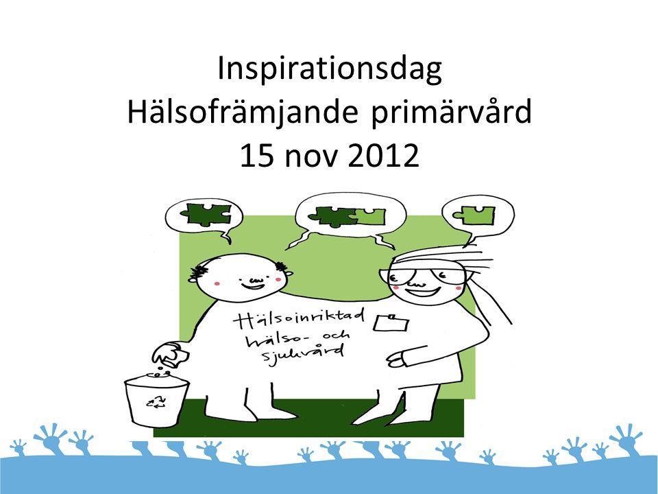 Inspirationsdag Hälsofrämjande primärvård 15 nov 2012