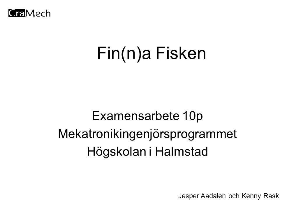 Fin(n)a Fisken Examensarbete 10p Mekatronikingenjörsprogrammet Högskolan i Halmstad Jesper Aadalen och Kenny Rask