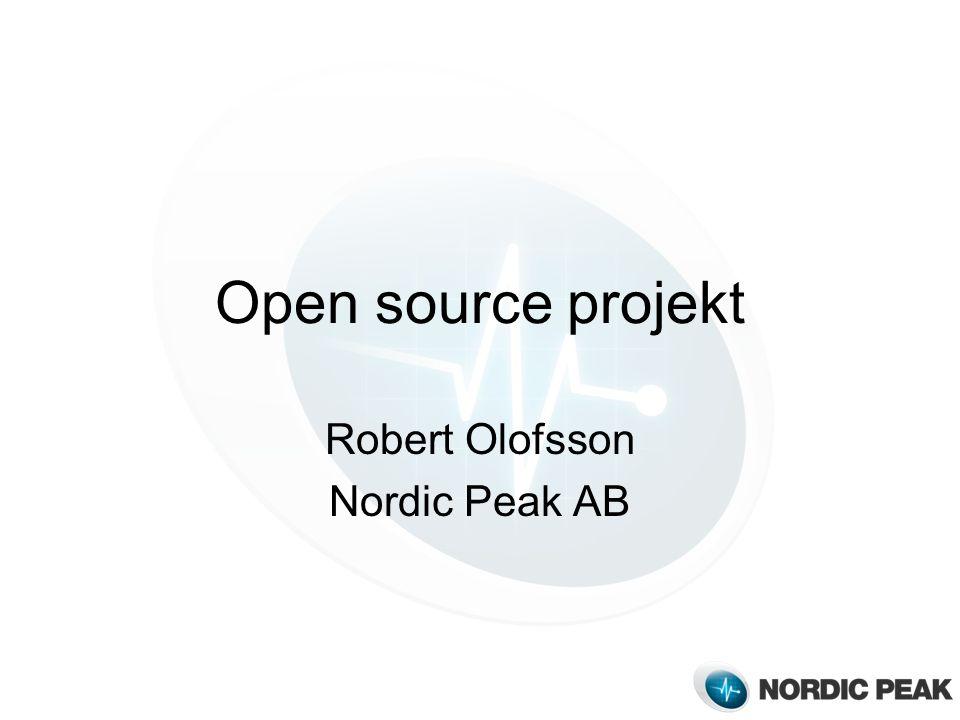 Open source projekt Robert Olofsson Nordic Peak AB