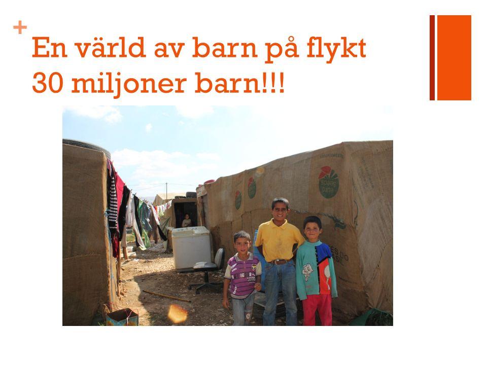 + En värld av barn på flykt 30 miljoner barn!!!