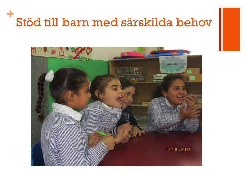 + Stöd till barn med särskilda behov