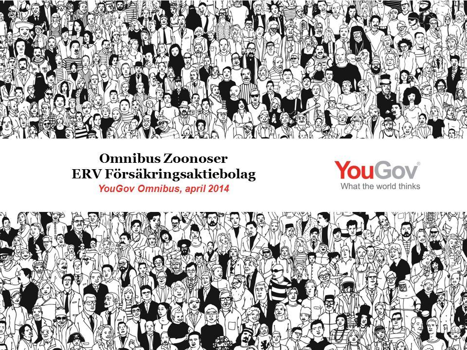 YouGov Omnibus, april 2014 Omnibus Zoonoser ERV Försäkringsaktiebolag