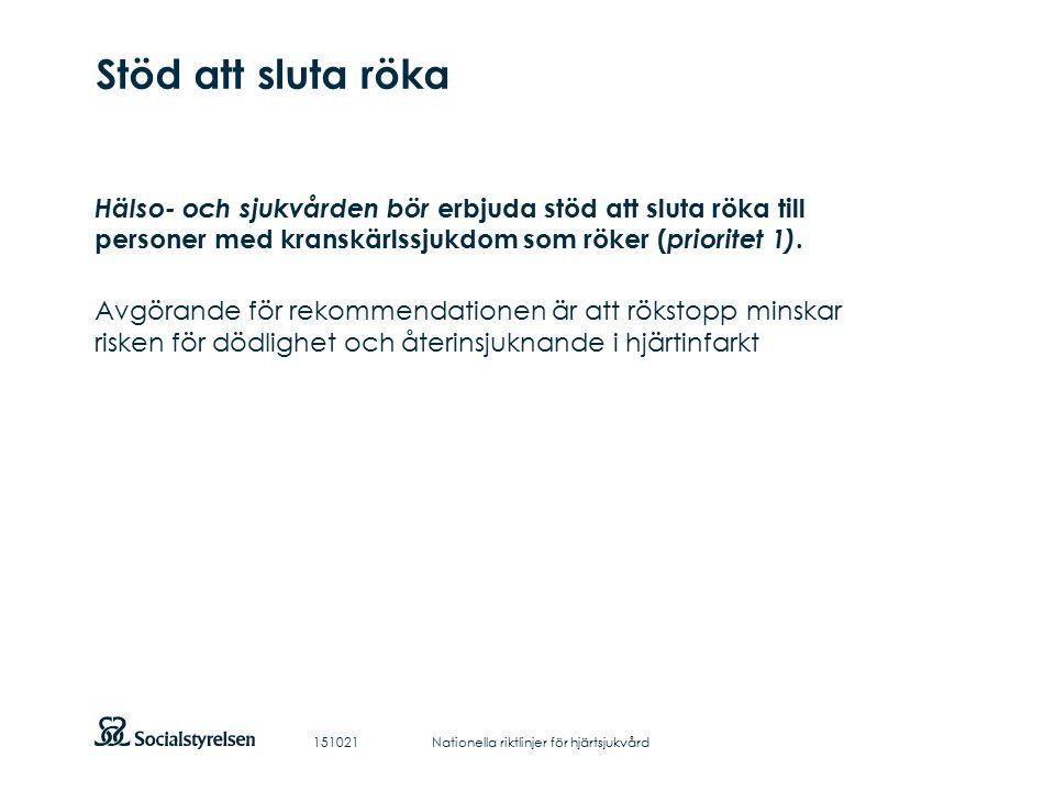 Att visa fotnot, datum, sidnummer Klicka på fliken Infoga och klicka på ikonen sidhuvud/sidfot Klistra in text: Klistra in texten, klicka på ikonen (Ctrl), välj Behåll endast text Stöd att sluta röka Hälso- och sjukvården bör erbjuda stöd att sluta röka till personer med kranskärlssjukdom som röker ( prioritet 1).