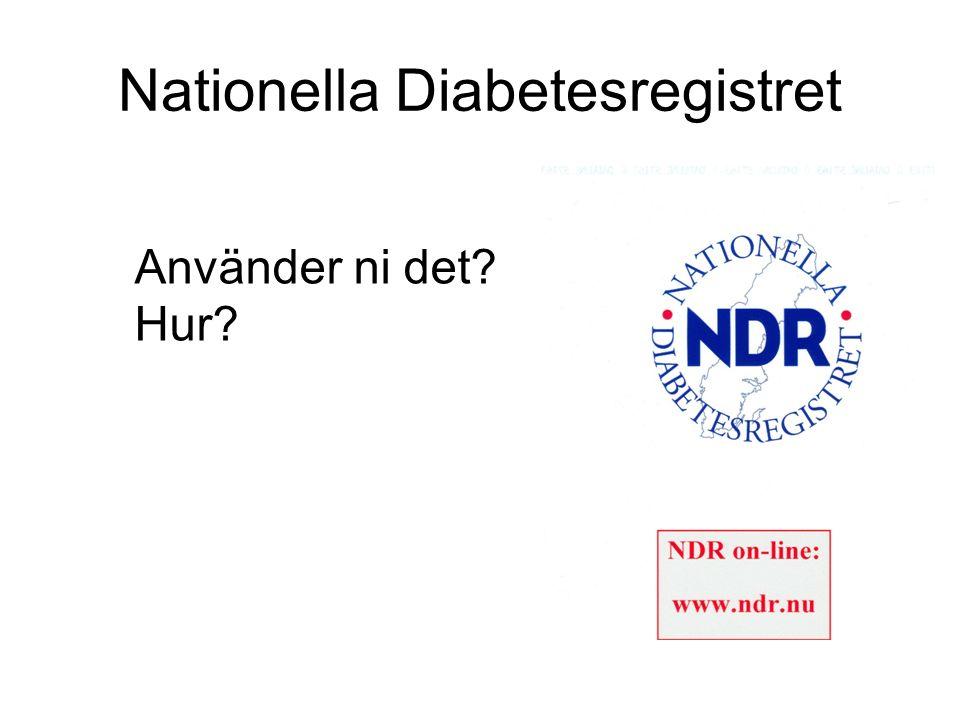 Nationella Diabetesregistret Använder ni det? Hur?
