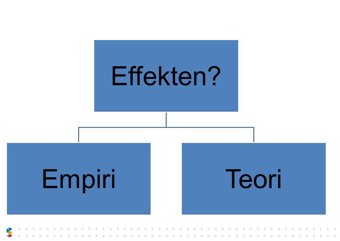 Effekten? EmpiriTeori