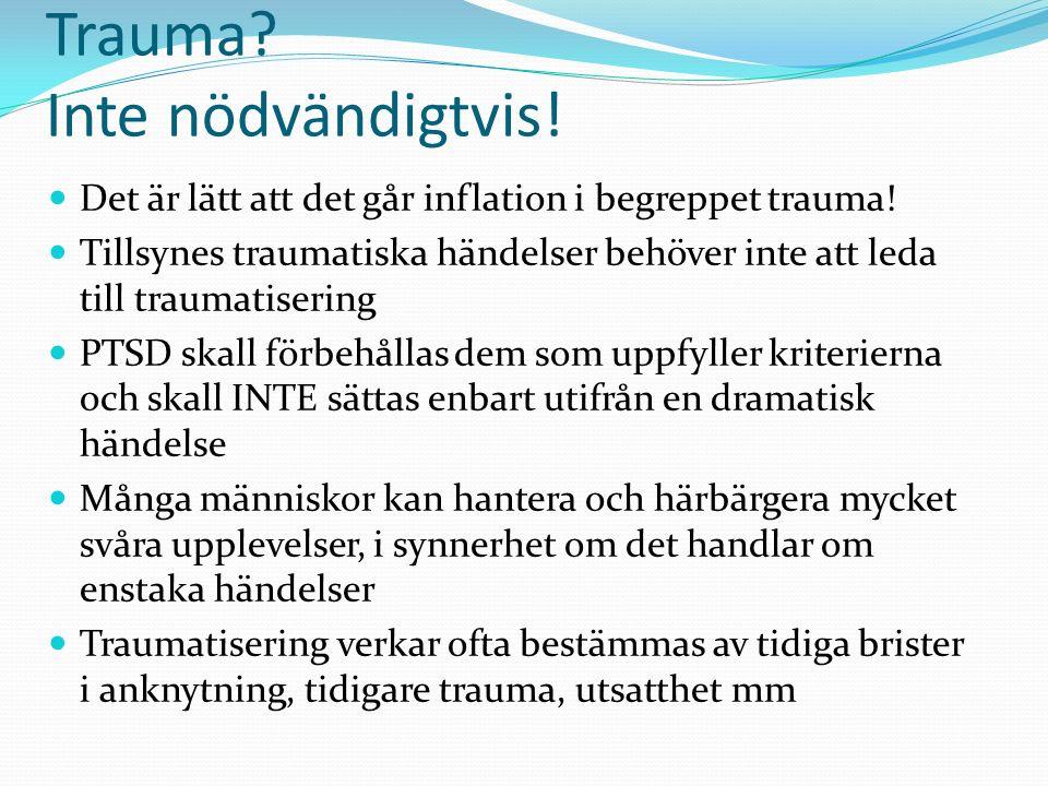 Bokstavsdiagnos eller trauma.