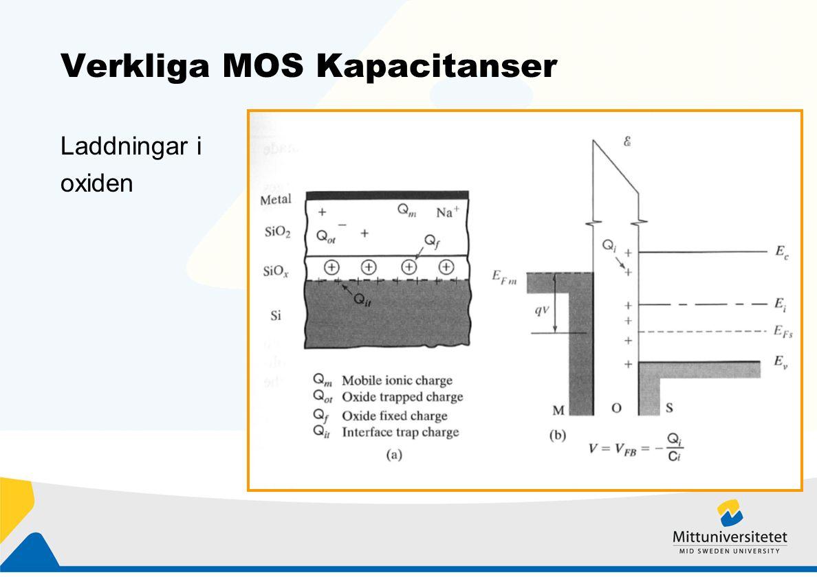 Verkliga MOS Kapacitanser Laddningar i oxiden