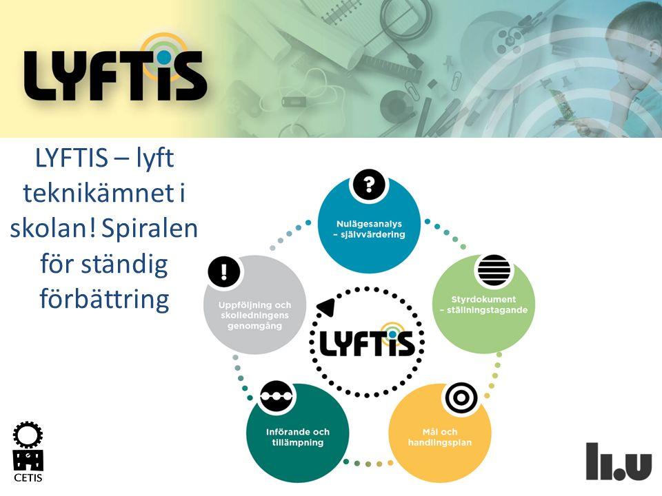 Hur man kan se på stegen i LYFTIS Vägledning för att implementera LYFTIS på skolan.