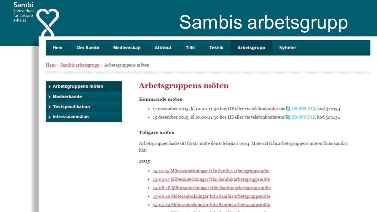 Sambis arbetsgrupp