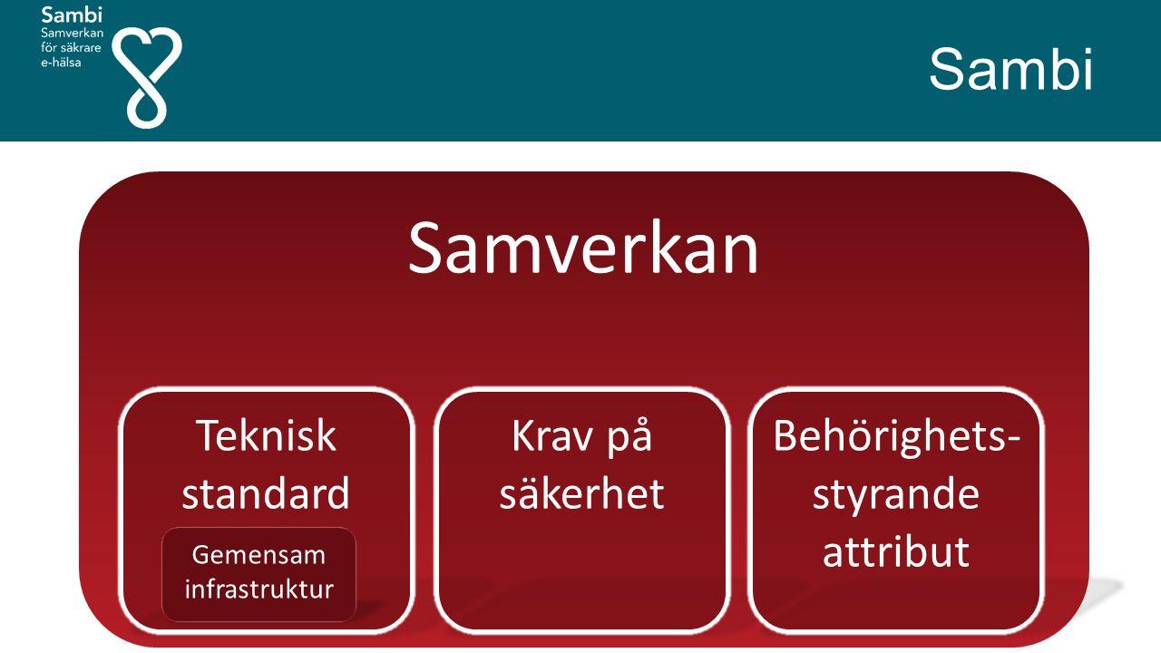 Samverkan Teknisk standard Gemensam infrastruktur Sambi Krav på säkerhet Behörighets- styrande attribut
