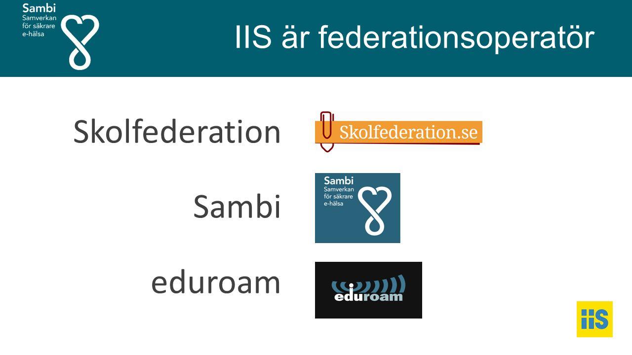 IIS är federationsoperatör Skolfederation Sambi eduroam