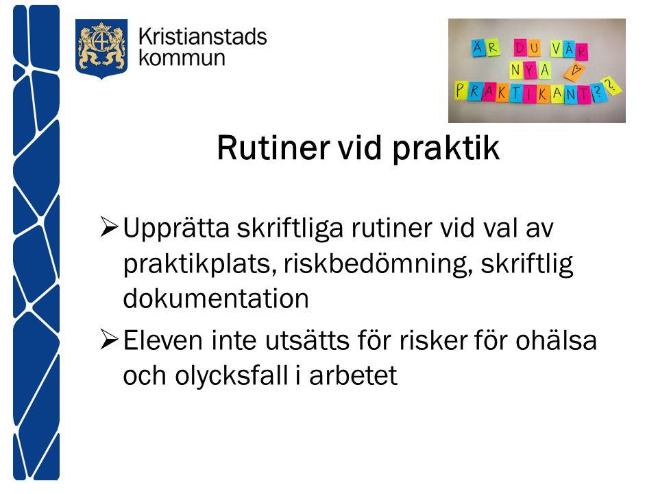 Uppgiftsfördelning HKK TXTM IDH NO http://www.kristianstad.se/sv/Skolportal er/metodboken/medarbetare/arbetsmiljo _likbehandling_halsa/systematiskt_arbet smiljoarbete/