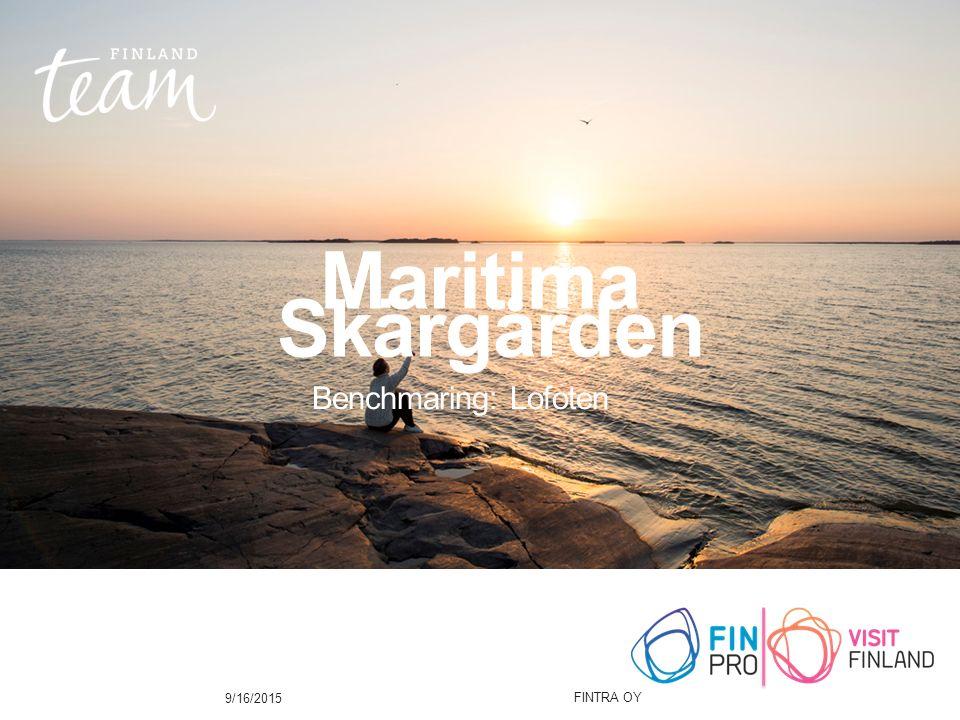 Maritima Skärgården Benchmaring: Lofoten 9/16/2015 FINTRA OY