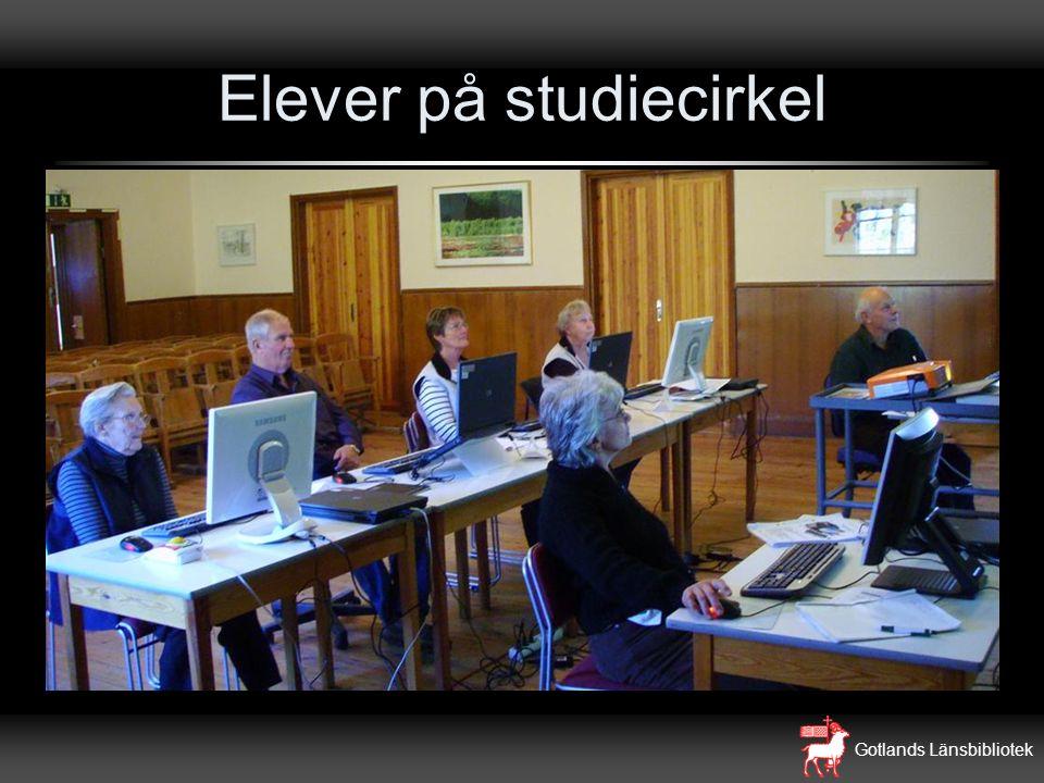 Gotlands Länsbibliotek Elever på studiecirkel