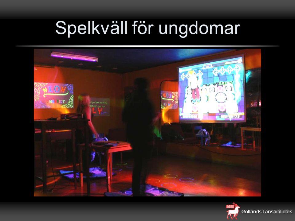 Gotlands Länsbibliotek Spelkväll för ungdomar