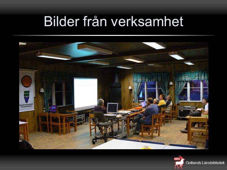 Gotlands Länsbibliotek Bilder från verksamhet