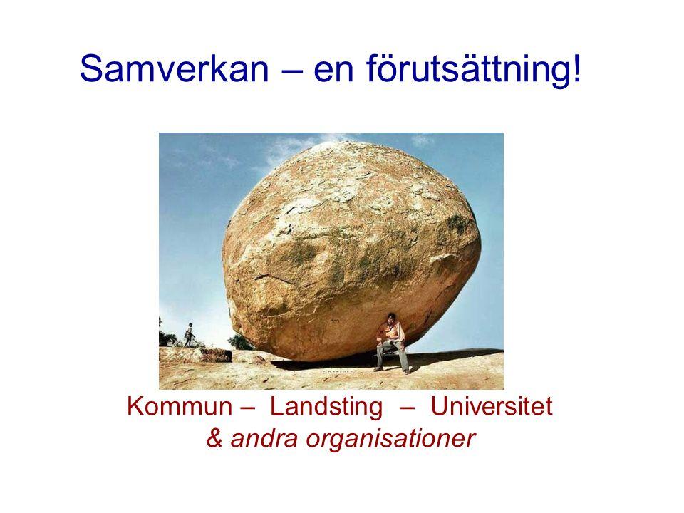 Kommun – Landsting – Universitet & andra organisationer Samverkan – en förutsättning!