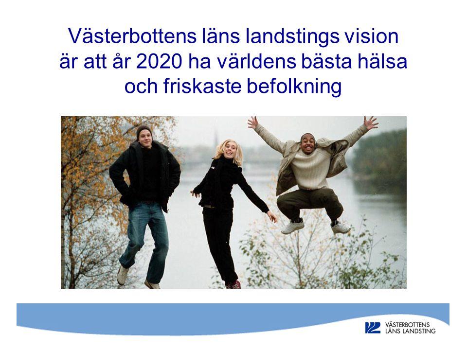 Västerbottens läns landstings vision är att år 2020 ha världens bästa hälsa och friskaste befolkning