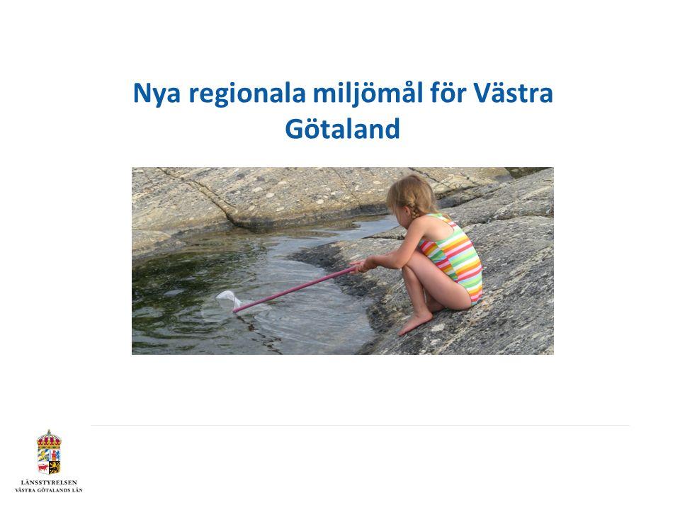 Nya regionala miljömål för Västra Götaland