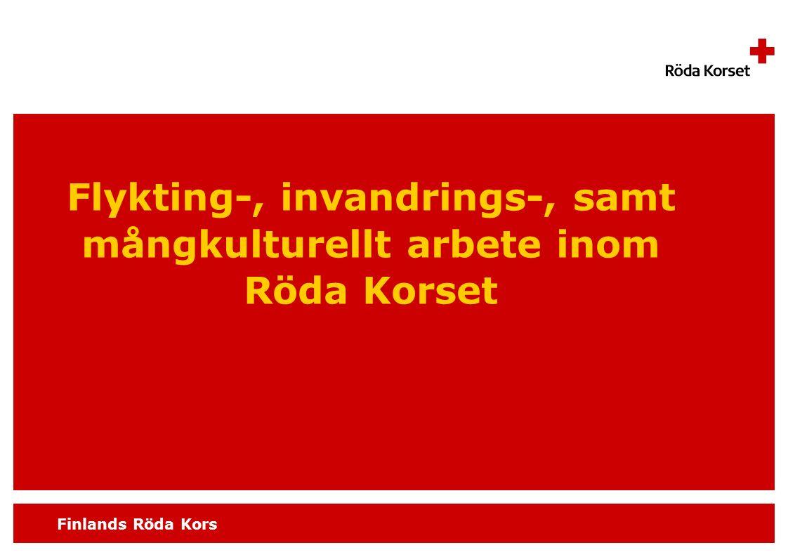 Finlands Röda Kors Flykting-, invandrings-, samt mångkulturellt arbete inom Röda Korset