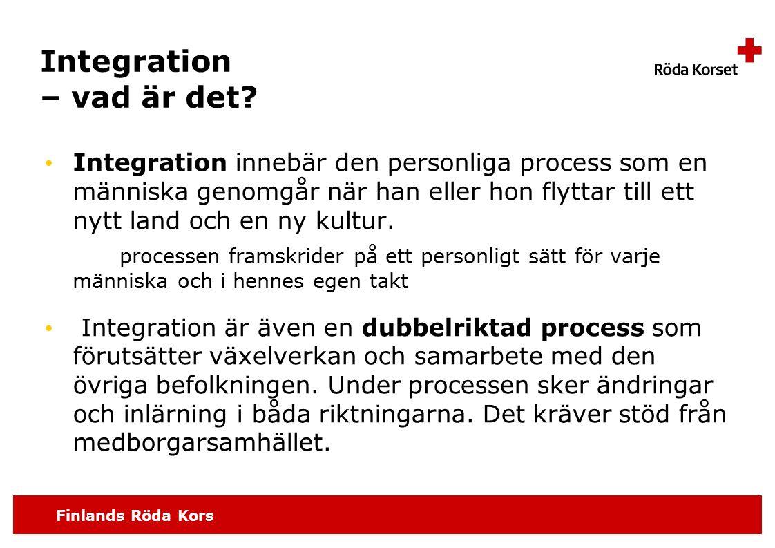 Finlands Röda Kors Integration – vad är det.