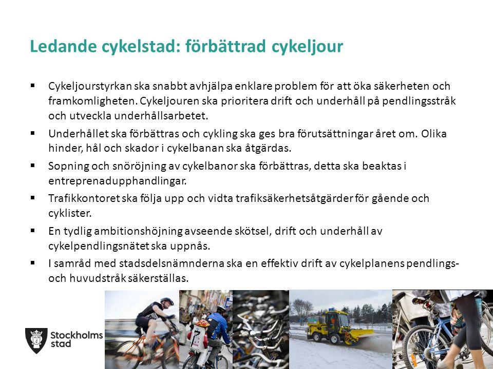 Ledande cykelstad: förbättrad cykeljour  Cykeljourstyrkan ska snabbt avhjälpa enklare problem för att öka säkerheten och framkomligheten.