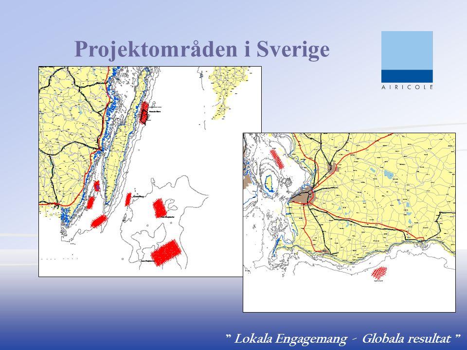 """ Lokala Engagemang - Globala resultat "" Projektområden i Sverige"