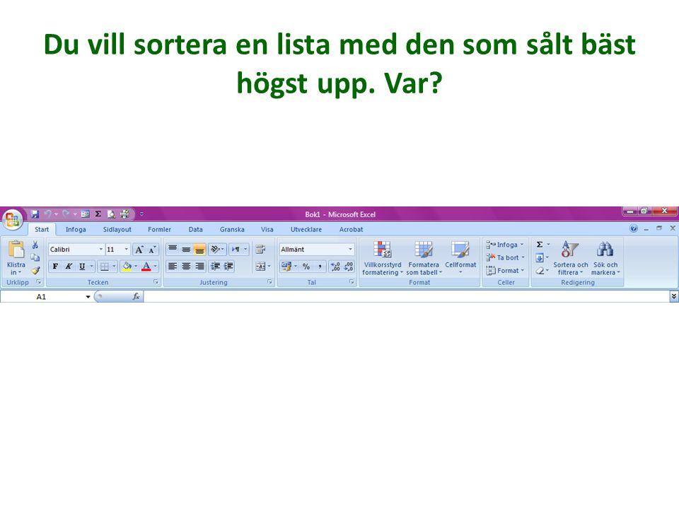 Du vill ersätta alla Svensson AB till Andersson AB i ditt kalkylark. Var börjar du?