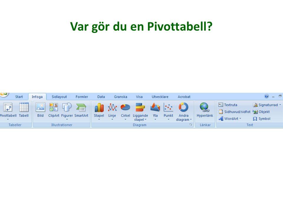 Infoga ClipArt Infoga SmartArt Infoga Pivottabell Gör en länk av text eller bild Infoga symbol Infoga textruta Rita ut figurer Infoga bild Få upp en l