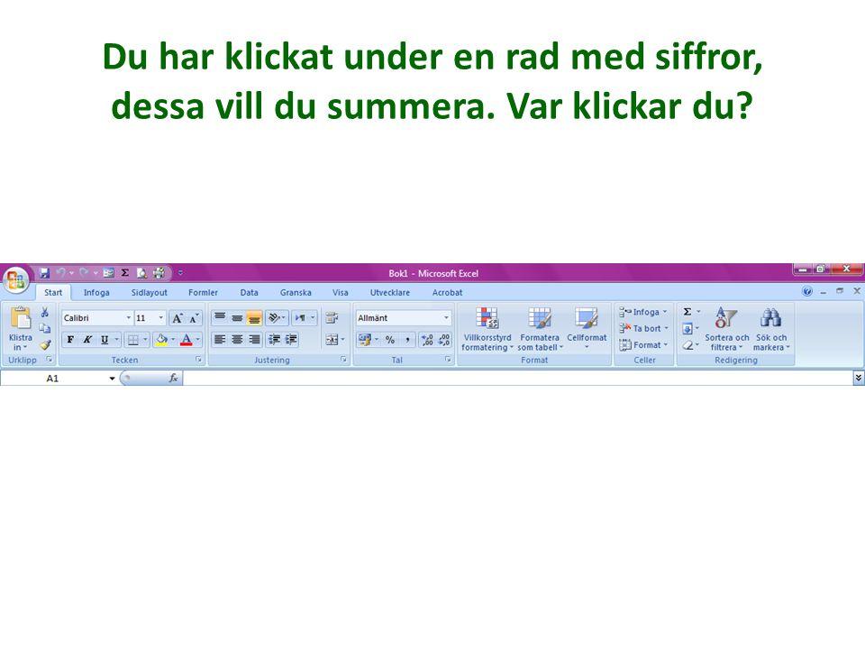 Du vill att rutnätet i Excel även ska synas när du skrivit ut. Var?