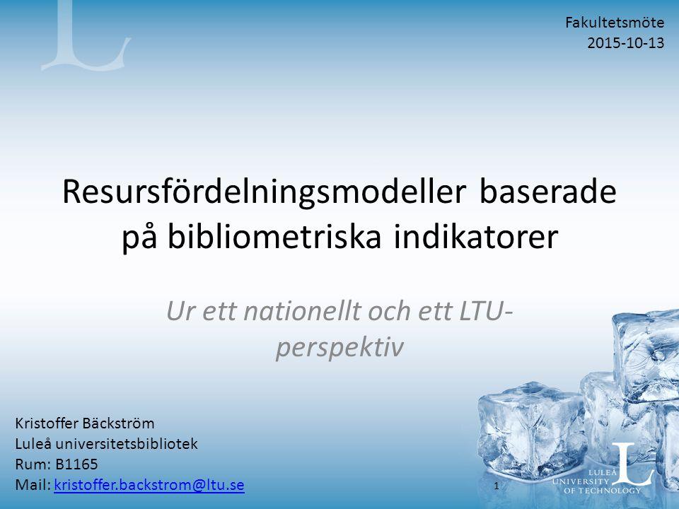 Tidskriftsartikel – 70 tkr För att en tidskriftsartikel ska ge 70 tkr ska den uppfylla de övergripande kriterierna, samt vara: - Författad av anställda vid LTU - Publicerad i Pure som forskning – peer- reviewed - Publicerad i en nivå 2-tidskrift i den norska/danska listan, alternativt i en ISI- indexerad tidskrift (d.v.s.