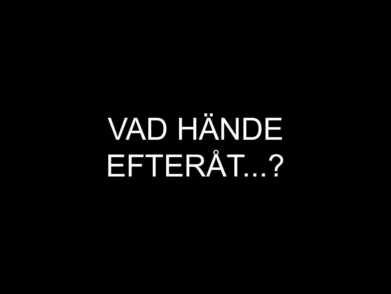 VAD HÄNDE EFTERÅT...
