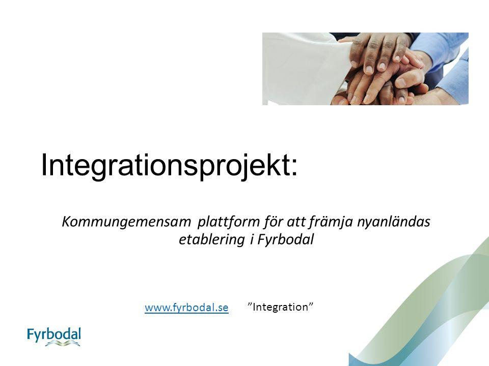 """Integrationsprojekt: Kommungemensam plattform för att främja nyanländas etablering i Fyrbodal www.fyrbodal.se """"Integration"""""""