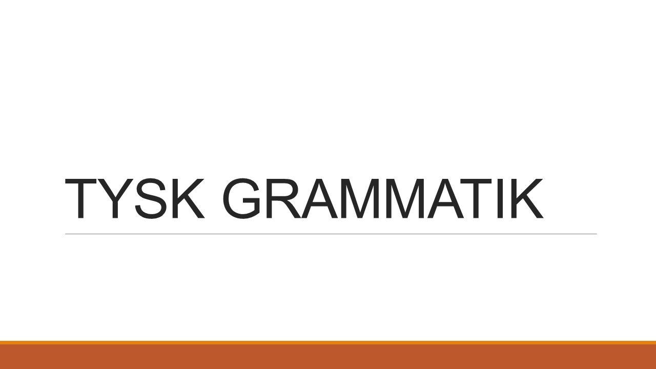 I tyska språket använder man sig av något som kallas bestämd artikel vid substantiv.