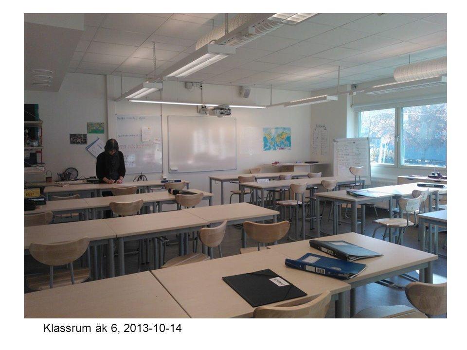 Klassrum åk 6, 2013-10-14