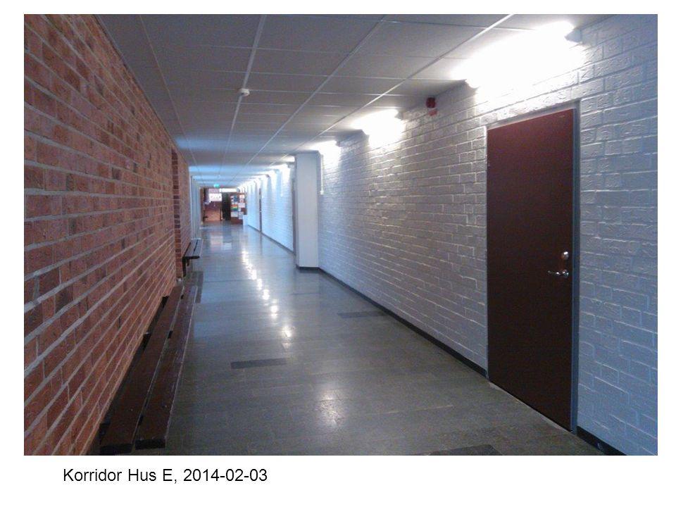 Korridor Hus E, 2014-02-03