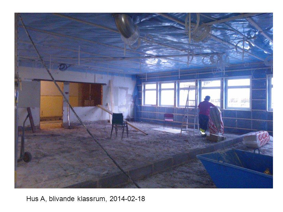 Hus A, blivande klassrum, 2014-02-18