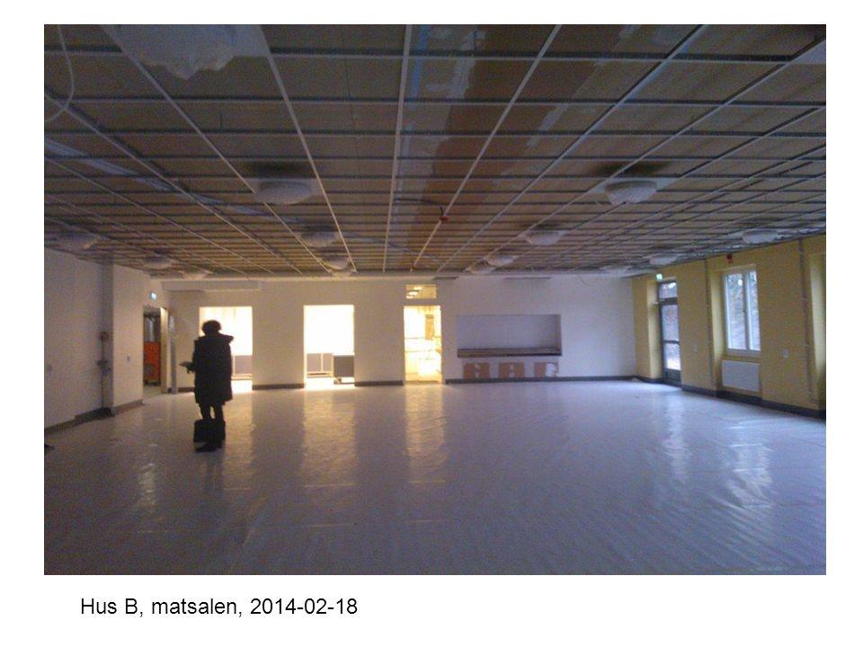 Hus B, matsalen, 2014-02-18