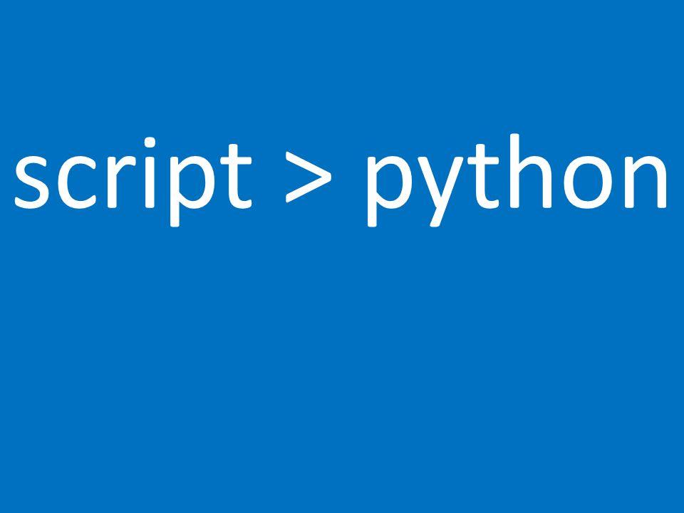 script > python