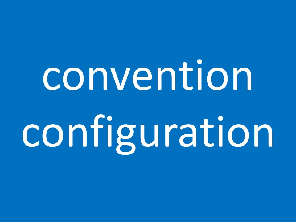 convention configuration