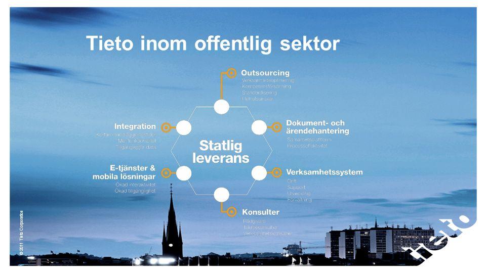 © 2011 Tieto Corporation Tieto inom offentlig sektor