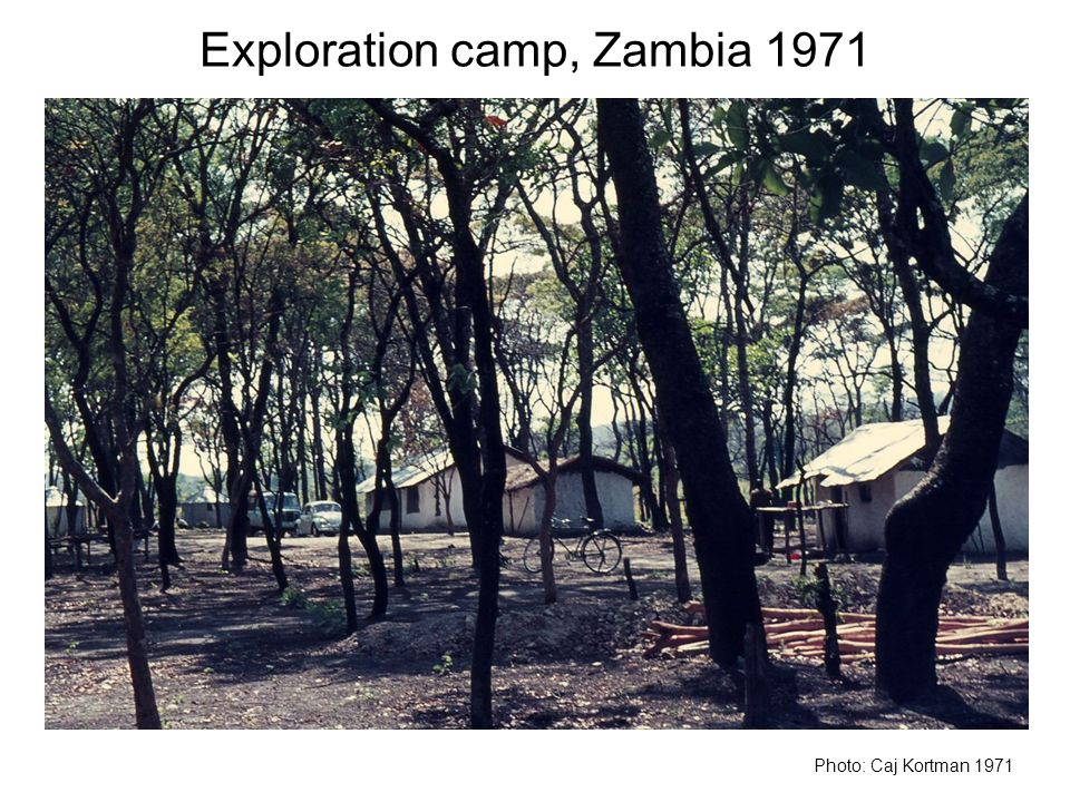 Exploration camp, Zambia 1971 Photo: Caj Kortman 1971