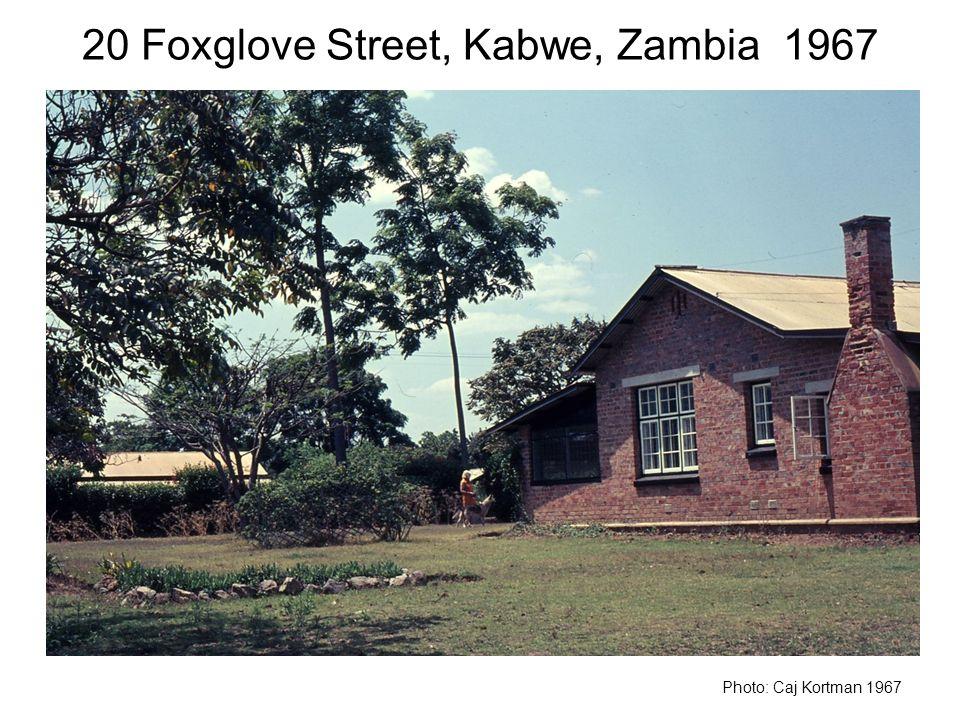 20 Foxglove Street, Kabwe, Zambia 1967 Photo: Caj Kortman 1967