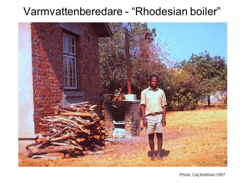 Varmvattenberedare - Rhodesian boiler Photo: Caj Kortman 1967
