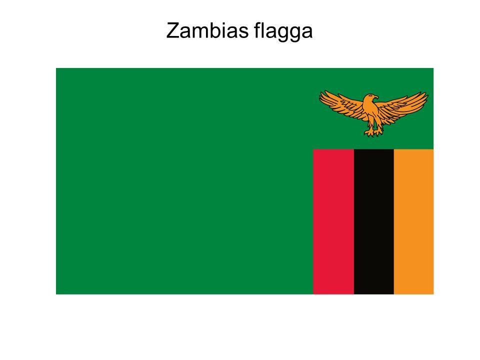 Karta över Zambia